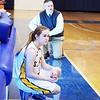 Boston, Emmerson College. St. Mary's vs Bridgewater-Rynham.<br /> Coach Jeff Newhall and player Elizabeth Weisse.