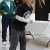 Makenzie Petillo takes advantage of the dancing provided inbetween races at the Diaper Derby at the Square One Mall on February 25. Photo by Owen O'Rourke