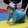 Giana Grillo of Saugus racing in the third heat of the Diaper Derby at the Square One Mall in Saugus on Saturday February 25. Photo by Owen O'Rourke