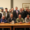 The team, that included Bill McDonald and Mike Reddy, middle, met at the Lynn Museum on Thursday evening to plan the Irishman of the Year event.