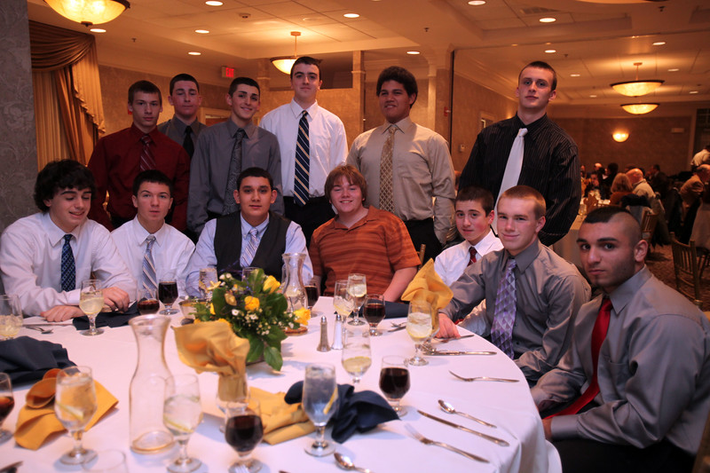 St Mary's football banquet at Spinelli's Tuesday January 12, 2010.