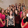 Cheerleaders pose for a photo at St Mary's football banquet at Spinelli's Tuesday January 12, 2010.