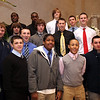 Sophomore players pose for a photo at St Mary's football banquet at Spinelli's Tuesday January 12, 2010.