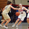 Tech's Jenna Kulakowski and Minuteman Tech's Jill Heinstrom in Lynn Tuesday January 12, 2010. Item Photo/ Reba M. Saldanha