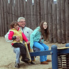 Alan Verrochi rides the see-saw with daughters Lisa Anne, 9, and Isabella, 5,  along Lynn Beach Sunday January 17, 2010. Item Photo/ Reba M. Saldanha
