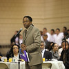 Steven Godfrey, executive director of the COmmunity Minority Cultural Center speaks during the 24th annual Reverend Dr. Martin Luther King, JR holiday observance at North Shore Community College Monday January 18, 2010. Item Photo/ Reba M. Saldanha