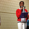 Kipp Academy stdents (from left) Precious Parker, Jennifer Addy, and Divine Kamba read their poems during the 24th annual Reverend Dr. Martin Luther King, JR holiday observance at North Shore Community College Monday January 18, 2010. Item Photo/ Reba M. Saldanha