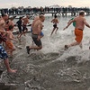 The start of the 4fth annual Polar Bear Plunge at the Swampscott Yacht Club on Friday.