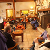 The lodge at Breakheart Reservation was the scene of freshly cooked clam chowder at one o'clock on Friday, part of the New Years Day hike.