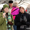 Some spectators at the 4th annual Polar Bear Plunge at the Swampscott Yacht Club on Friday.