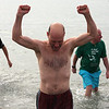 Jeff Horton emerges for the sea after his second plundge today. He would go back for a third before gong home.
