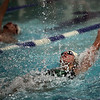 Classical's Marissa Maillet, right, and English's Eddie Holand compete in the Lynn English vs Lynn Classical swim meet at Lynn Tech Thursday January 21, 2010. Item Photo/ Reba M. Saldanha