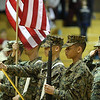 The Lynn English Jr. ROTC posted the colors before the game.