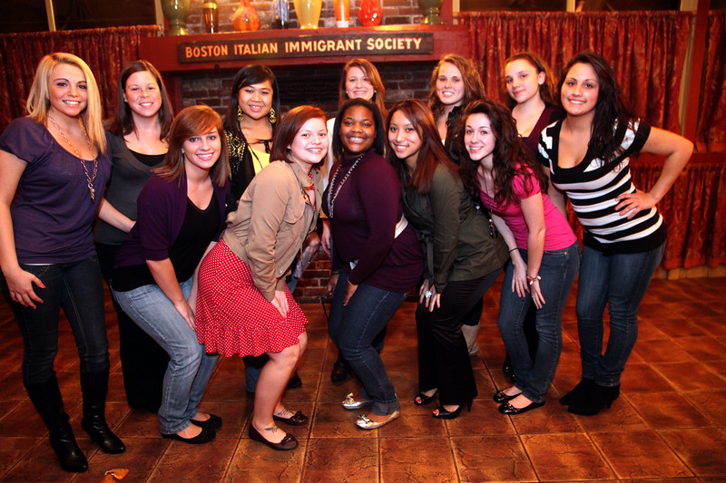 Cheerleaders at the Classical High School football banquet at Prince House of Pizza Monday January 25, 2010. Item Photo/ Reba M. Saldanha