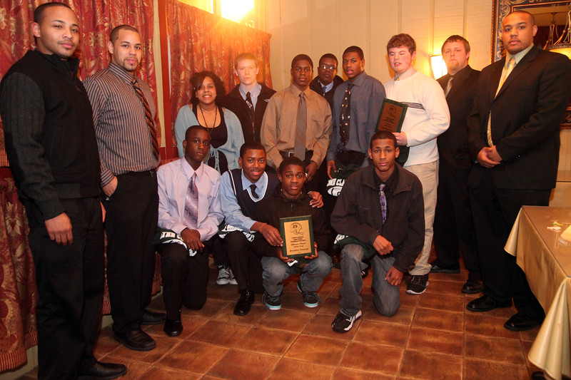 Freshman football and coaches at the Classical High School football banquet at Prince House of Pizza Monday January 25, 2010. Item Photo/ Reba M. Saldanha
