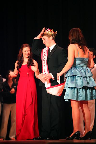 Paul Andrews wins Mr. Saugus High School Thursday January 21, 2010. Item Photo/ Reba M. Saldanha