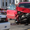 Two car accident on Washington Street, near the mouth of Laighton Street, this morning.
