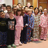This was a common sight at the Sewall Anderson School today, part of Project Pajamas, a fund raiser for the victims of the Haiti earthquake. For two bucks or more, you get to wear your pajamas to school. The school raise one thousand dollars.