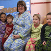Project Pajamas at the Sewall Anderson School in Lynn. For two bucks or more, you got to wear your pajamas to school. Pictured here are first graders Mia Kebreau, Jonathan Baker, Mrs. Chruniak, Courtney Holloway, and Kyle Gildner on right.
