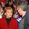 Barbara Walters talking with Scott Brown at the Kowloon on Saturday.