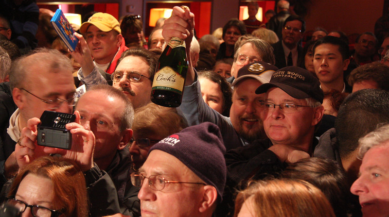 A portion of the crowd that came to see Scott Brown.