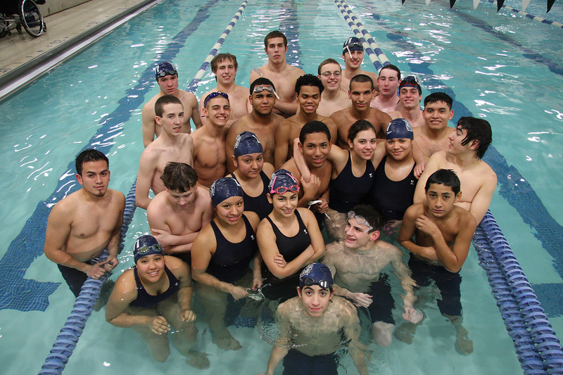 The Lynn Tech swim team