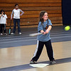 Olivia White swings at the ball during the Parks and Recreation softball clinic at Lynn Tech Sunday January 31, 2010. Item Photo/ Reba M. Saldanha