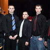 (from left) Jermaine Patterson, Matt McManus, Anthony Bonofrio, Eric Stuley, and MElvin Taveres during the Lynn English High School footbal banquet Sunday January 31,2010. Item Photo/ Reba M. Saldanha