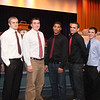 (from left) Cory Burt Derek Stevens, Cole Gentile, Melvin taveres, Tyllor McDonald, Neil Whitteredge, and Travonne Berry-Rogers during the Lynn English High School footbal banquet Sunday January 31,2010. Item Photo/ Reba M. Saldanha