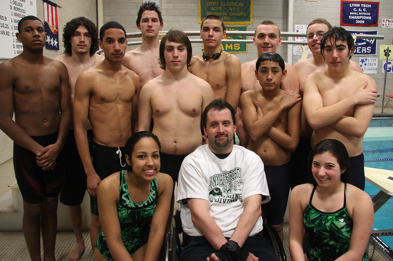 The diving teams from all three schools