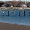 The calm before tomorrow's storm on Fisherman's Beach in Swampscott.