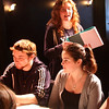 Mayrsa Angelli, a Lynn English student who is directing and producing a play called the Dining Room, talking with actors that include Michael Angelli and Alyssa Bartholoew
