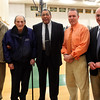 (from left) Assitant Principal Dick Sakowich, former coach Herb BRenner, Dr. Eddie Robinson, athletic director Bill Deven, and principal Gene Constantino pose for a photo after revealing a school record 64 points in one game to Dr. Robinson from 1953. Item Photo/ Reba M. Saldanha