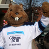 Thisi ground hog is the census mascot.