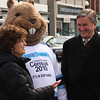 Congressman John Tierny, Lori Berry and the census ground hog outside of the Lynn Community Health Center today as the Census Road Tour began.