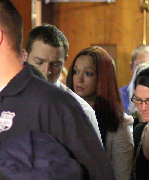 Constance Bethell leaves the courtroom after the sentencing.