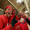 Marblehead fans (from left) Jess Lipkind, Alex Haigis, and Patrick Grady during the Eastern Mass Division 3 final at Harvard's Bright aRena Wednesday March 10, 2010. Item Photo/ Reba M. Saldanha
