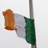 The Irish flag flying in City Hall Square, Lynn.