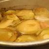 Cabbage in the 30 gallon pot.