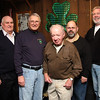Each of these men helped cook this year's meal. From left to right they are:Jim Audley, Frank Donohue, Paul Lundergan, Jim Gately, and Paul Crowley.