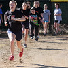 The Swampscott girl's softball team doing running drills to first base.
