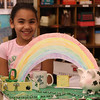Ariranna Jette and her leprechaun trap. Vets School, Saugus.