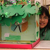 Abigail Rajoo and her leprechaun trap.
