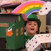 John Devereaux and his Leprechaun trap. Veterans School in Saugus.