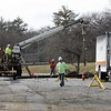 Crews remove a drill from the ground in front of Staley Elementary School on Whitman St in Swampscott Monday March 1, 2010. Item Photo/ Reba M. Saldanha