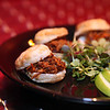 Lynn Chef Dorothy Kaiser's pulled pork bisuits at Turbine Wine Bar in Lynn's Central Square. Item Photo/ Reba M. Saldanha