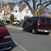 Cars involved in Sunday morning's fatal accident still sit on Glenwood Ave near Eatsern Ave in Lynn Sunday afternoon March 21, 2010. Item Photo/ Reba M. Saldanha