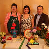 Saugus Garden Club Flower Show held at the Saugus Senior Center. from left to right: Martha Clouse, Sally Clouse, ad Donald Wong.