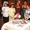 Saugus Garden Club Flower Show held at the Saugus Senior Center. From left to right are: Kathleen Nadeayu, Randy-Sue Abber, Tres. Donna Manoogian, President, Janice Williams, Marhta Clouse, Diane Sutera, and Dolores Davenhaver.