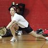 Saugus varsity softball player Gina Reppucci during indoor practice Tuesday March 23, 2010. Item Photo/ Reba M. Saldanha
